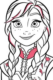 elsa colouring disney create uk