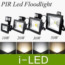 Led Landscape Flood Light Pir Motion Sensor Led Floodlight 10w 20w 30w 50w Outdoor Led