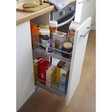 rangement pour tiroir cuisine rangement coulissant 2 paniers pour meuble l 30 cm delinia leroy