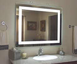 Magnifying Bathroom Mirror With Light Lighted Bathroom Wall Mirrors Lighting For Makeup Backlit Mirror