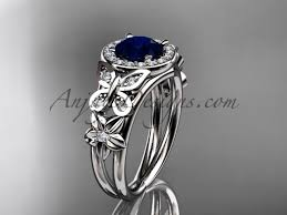 blue rings white images Blue sapphire engagement rings white gold halo ring adbs524 jpg