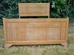 limed oak double bed probably heals sold art furniture