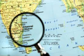 Chennai India Map by When Madras Became Chennai