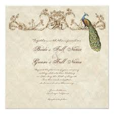hindu wedding invitation vintage peacock etchings hindu wedding invite zazzle