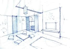 interior design drawing living room architecture student