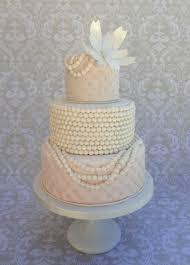 wedding cake decorations pearls vintage pearl ruffle wedding cake