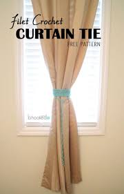 Nursery Curtain Tie Backs by 20 Free Patterns For Crochet Curtain Tie Backs