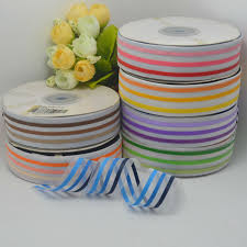 ribbon bulk multi line stripe print sheer ribbon bulk candy color organza