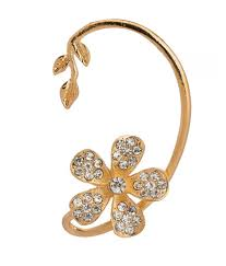 gold ear cuffs spm gold ear cuffs design cz earring buy spm gold ear