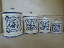 blue and white kitchen canisters 164 best kitchen canisters images on pinterest kitchen ideas hens