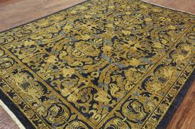 Gold Rugs Contemporary Blue And Gold Rug Rugs Decoration