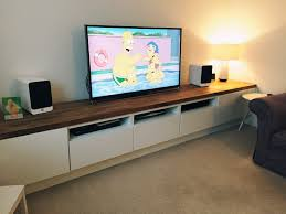 Tv Units Long Tv Unit Custom Built Ikea Hack Using Besta Units On Bespoke