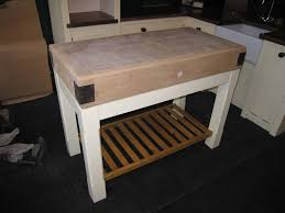 the ministry of pine antique pine furniture and free standing this 4 butchers block has just arrived and i suspect it will sell very quickly it is on a pine base with square legs and a slatted base