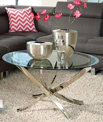 coaster 702588 coffee table black chrome 702588 at homelement com
