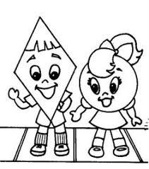 shapes coloring pages toddlers toddler preschool