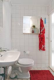 Tiny Bathroom by Tiny Bathroom Interior With White Ceramic Backsplash And Square