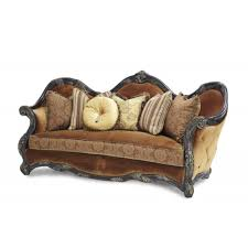 Sofa With Wood Trim by 3 569 00 Essex Manor Wood Trim Sofa Deep Brown By Michael Amini