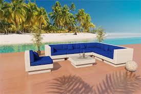 White Wicker Patio Chairs Viro Fiber Outdoor Sectional Sofa Set 10s