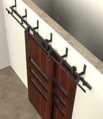 Closet Door Systems Diyhd 5ft 10ft Rustic Black Bypass Sliding Barn Door