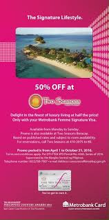 50 off at two seasons coron saledito ph