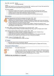 Best Teaching Resume by Example Cv Primary Teacher