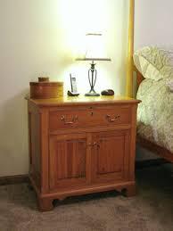 Unusual Table Lamps Bedroom Furniture Varnished Teak Wood Bedside Table With Storage