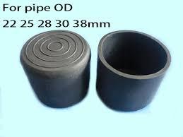 plastic table leg feet 25mm round cover cap pipe tube table leg feet pad 1 inch furniture