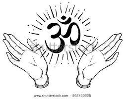 diwali om symbol mandala pattern stock vector 567426532