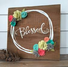 Rustic Wall Decor Blessed Rustic Wall Decor Reclaimed Wood By Theoldwhiteshediowa