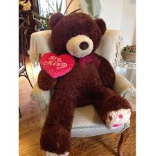 be mine teddy plush teddy 42 be mine pink heart pillow jumbo new