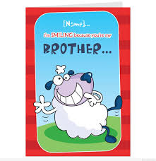 funny birthday card for brother u2013 gangcraft net