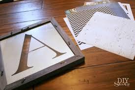 monogrammed scrapbook diy customizable monogrammed mirror tutorialdiy show diy