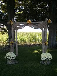wedding arches decorated with burlap diy summer country rustic wedding arch sunflower and burlap decor