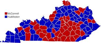 1984 Presidential Election Map by Whenhub Mcconnell U0027s Senate Career