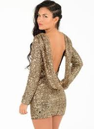 long sleeve gold sequin dress oasis amor fashion