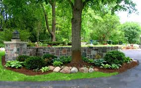 Landscaping Ideas For A Sloped Backyard by Amazing Backyard Landscaping Ideas Retaining Walls For Country