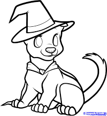 Halloween Pictures Coloring Pages Halloween Puppy Coloring Page Getcoloringpages Com