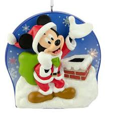 disney mickey mouse as santa claus light up christmas ornament