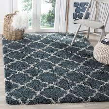 safavieh hudson slate blue ivory shag rug 7 u0027 square free