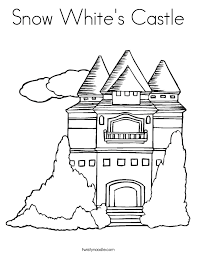 snow white u0027s castle coloring page twisty noodle