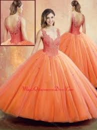 orange quinceanera dresses orange quinceanera dresses 2018 for less