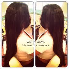 Hair Extensions Using Beads by Hair Extensions Gena Deva Hair Organic Salon