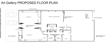 How To Draw A Sliding Door In A Floor Plan Proposed Gallery Renovation Redlands Art Association
