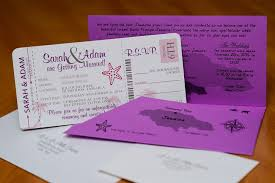 boarding pass save the date purple boarding pass wedding invitations to rui ocho rios jamaica