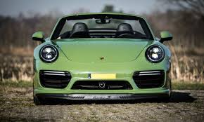 green porsche porsche 911 turbo s cabriolet by edo competition is green with envy