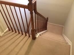 Wooden Banister Spindles How To Install Laminate Under Balusters Spindles That Go In Ground