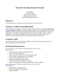 Legal Assistant Resume Examples by Cv Writing Computer Skills