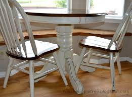 Over The Apple Tree Kitchen Table Makeover - Painted kitchen tables and chairs