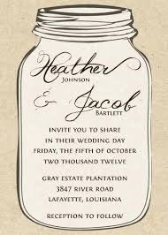 jar invitations free jar wedding invitation templates jar wedding