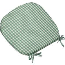 gingham check tie on seat pad 16